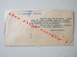 Croatia / Karlovac - The Seal Of The Military Club ( 1965 ) / Invitation Card  + Envelope - Documenti Storici