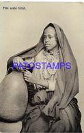 139619 AFRICA EGYPT COSTUMES NATIVE WOMAN ARAB POSTAL POSTCARD - Cartoline