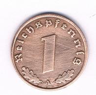 1 PFENNIG  1938  A   DUITSLAND /6133/ - [ 4] 1933-1945 : Tercer Reich