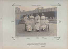Hôpital Hospice D' IVRY Médecins  Et Personnels Nommés Photo Argentique Format 18 X 13 Cm Sur Carton 29 X 23 - 1905 - Fotos