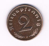 2 PFENNIG  1938  F   DUITSLAND /6134/ - [ 4] 1933-1945 : Tercer Reich