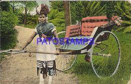 139620 SOUTH AFRICA DURBAN COSTUMES NATIVE RICKSHA POSTAL POSTCARD - Cartoline
