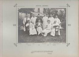 Hôpital LAËNNEC Médecins  Et Personnels Nommés Photo Argentique Format 18 X 13 Cm Sur Carton 29 X 23 - 1905 - Fotos