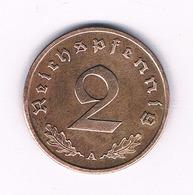 2 PFENNIG  1939 A    DUITSLAND /6135/ - [ 4] 1933-1945 : Tercer Reich