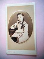 PHOTO CDV 19 EME JEUNE FILLE ROMANTIQUE ROBE   MODE   Cabinet HERBERT A BEAUVAIS - Fotos