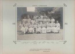 Hôpital LARIBOISIERE Médecins  Et Personnels Nommés Photo Argentique Format 18 X 13 Cm Sur Carton 29 X 23 - 1905 - Fotos