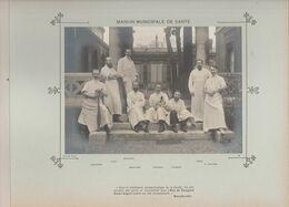 Maison Municipale De Santé  Médecins  Et Personnels Nommés Photo Argentique Format 18 X 13 Cm Sur Carton 29 X 23 - 1905 - Fotos