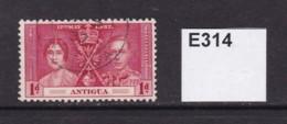 Antigua 1937 Coronation 1d - Antigua & Barbuda (...-1981)