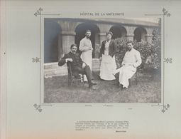 Hôpital De La MATERNITE   Médecins Et Personnels Nommés Photo Argentique Format 18 X 13 Cm Sur Carton 29 X 23 - 1905 - Fotos
