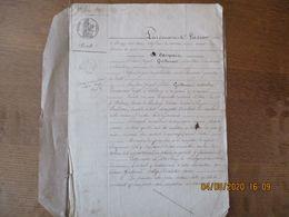 LAMBERCY LE 1er JUIN 1846 VENTE PAR LE SIEUR JOSEPH GUILLOUART AU SIEUR JOSEPH FREDERIC GUILLOUART DE TERRE LIEU DIT LE - Manoscritti