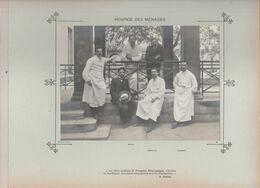 Hôpital Hospice Des Ménages Médecins Et Personnels Nommés Photo Argentique Format 18 X 13 Cm Sur Carton 29 X 23 - 1905 - Photos