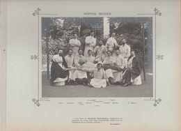 Hôpital NECKER Médecins Et Personnels Nommés Photo Argentique Format 18 X 13 Cm Sur Carton 29 X 23 - 1905 - Fotos