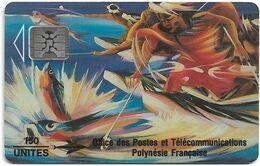 French Polynesia - OPT - La Pêche Aux Cailloux - SC4, Cn. 44184, Matt, 1993, 150Units, Used - Polynésie Française