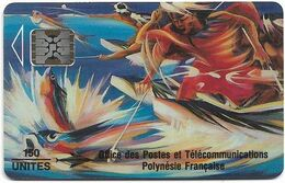 French Polynesia - OPT - La Pêche Aux Cailloux - SC5, Cn. 00162, Glossy, 1993, 150Units, Used - Polynésie Française