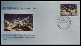115. NEPAL 2013 STAMP DIAMOND JUBILEE CELEBRATION MT. EVEREST  FDC - Nepal