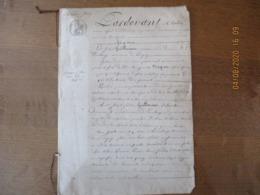 LAMBERCY LE 31 MARS 1829 VENTE PAR LE SIEUR JOSEPH GUILLOUART AU SIEUR JOSEPH FREDERIC GUILLOUART D'UNE MAISON PLACE D'E - Manoscritti