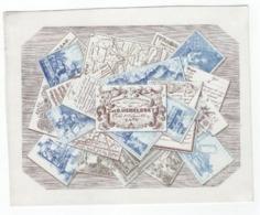 1 Carte Porcelaine  Imprimerie & Lithographie T.et D. Hemelsoet  Place  St Jacques Gand  Tous Genres 14,5x 18,5cm - Porzellan