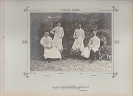 Hôpital RICORD Médecins Et Personnels Nommés Photo Argentique Format 18 X 13 Cm Sur Carton 29 X 23 - 1905 - Fotos