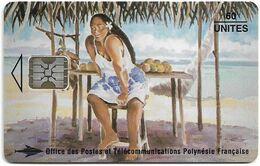French Polynesia - OPT - La Vendeuse De Mangues - SC5, Cn. C47100878, 08.1994, 60Units, 50.000ex, Used - Polynésie Française