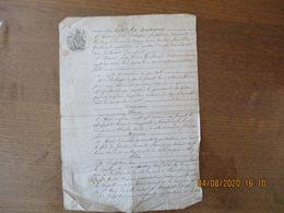 15 AVRIL 1851 BAIL TERROIRS DE NAMPCELLES,BANCIGNY,LAMBERCY PAR MME DECHAPPE VEUVE GUILLOUART A M.GUILLOUART JEAN FREDER - Manoscritti