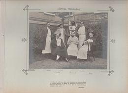 Hôpital TROUSSEAU Médecins Et Personnels Nommés Photo Argentique Format 18 X 13 Cm Sur Carton 29 X 23 - 1905 - Fotos