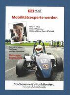 Xx11xx ★★ Werbepostkarte HOST Hochschule Stralsund Mobilitätsexperte Werden - Motorsport Engineering 2020 - Motorsport