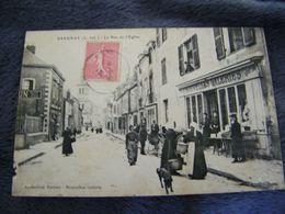 CPA - Savenay (44) - Rue De L'Eglise - Magasin Mercerie De Paris - Nouvelles Galeries - 1908 - SUP (DP 28) - Savenay