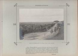 Nièvre POUGUES LES EAUX BELLEVUE - Photo Argentique Format 16,5 X 12 Cm Sur Carton 29 X 23 - 1905 - Photographs