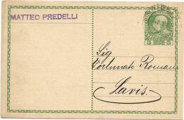 XW 3638 Cartolina Commerciale - Matteo Predelli Commerciante Di Cereali In Trento / Viaggiata 1913 - Mercanti