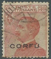 1923 CORFU USATO EFFIGIE 20 CENT - RA28-2 - Corfu