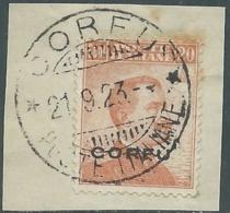 1923 CORFU USATO EFFIGIE 20 CENT - RA28-9 - Corfu