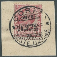 1923 CORFU USATO EFFIGIE 25 L SU 10 CENT - RA28-9 - Corfu