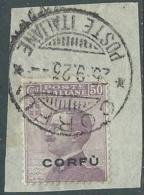 1923 CORFU USATO EFFIGIE 50 CENT - RA28-9 - Corfu