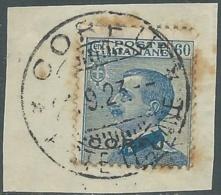 1923 CORFU USATO EFFIGIE 60 CENT - RA28-9 - Corfu