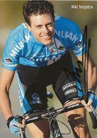 CARTE CYCLISME NIKI TERPSTRA SIGNEE TEAM MILRAM 2008 - Cyclisme