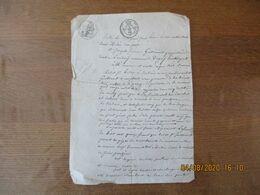 4 MARS 1827 VENTE PAR JEAN LOUIS JEDUC A JOSEPH FREDERIC GUILLOUART A LAMBERCY COMMUNE DE DAGNY D'UNE PATURE - Manoscritti