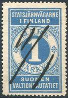 Russia Finland 1891 State Railways (VR) 1 Mark Railway Parcel Eisenbahn Paketmarke Chemin De Fer Colis Russie Russland - Trains