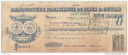 75 PARIS TRAITE 1908 Manufacture Parisienne De Scies & Outils  Marque Sonne Clair ( Cloche )  -   F3 - France