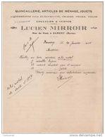 51 DAMERY Près EPERNAY COURRIER 1924  QUINCAILLERIE JOUETS Couleurs & Vernis Lucien MIRROIR - V17 - France
