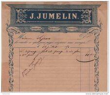 13 MARSEILLE  FACTURE 1850 FABRIQUE DE DORURE Et MIROITERIE  J. JUMELIN    - G4 - France