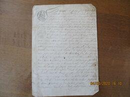 15 JANVIER 1832 EXTRAIT DE PARTAGE ENTRE VVE GUILLOUART A MARTIGNY,JOSEPH GUILLOUART A LAMBERCY,JEANNE GUILLOUART,LOUIS - Manoscritti