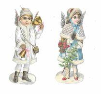 Lot De 2 Découpis, Petite Fille Ange, - Ragazzi