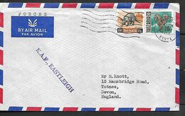 KENYA 1968 AIRMAIL COVER Sent To Devon 2 Stamps (one KENYA Stamp & One TANZANIA Stamp) COVER USED - Kenya (1963-...)