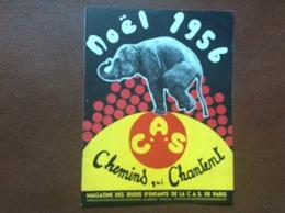 ALBUM PROGRAMME CIRQUE   C.A.S. De PARIS  Arbre De Noel 1956 - Programmi