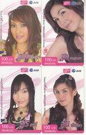 4 X Thailand Phonecard 12Call - Famous Thai Singers - Nice Lady`s - Thaïland