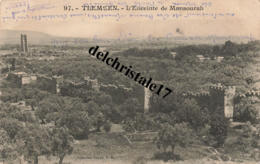 CPA TLEMCEN - ALGÉRIE  - L'Enceinte Du Mansourah - écrite - Tlemcen