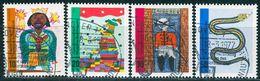 BRD - Mi 660 / 663 - OO Gestempelt (A) - Kinderzeichnungen, Jugend 71 - BRD
