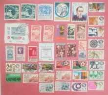 MEXICO LOT OF NEWS MNH** AND USED STAMPS - Messico