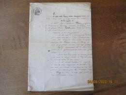 20 AVRIL 1863 A LA REQUÊTE DE MME MARIE SOIM VVE DE M.JOSEPH GUILLOUART A LAMBERCY INVENTAIRE DES FORCES & CHARGES DE LA - Manoscritti