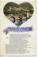 139662 GERMANY HEIDELBERG MUSIC & WINDOWS MULTI VIEW 10 TEN MINI PHOTO POSTAL POSTCARD - Non Classés